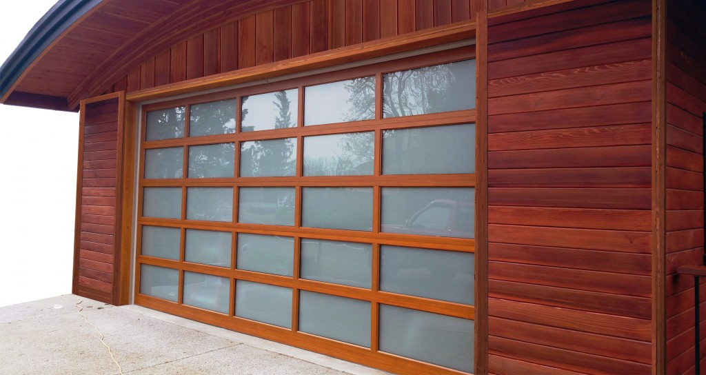 Charming Modern Classic MC55 (Dark Fir Wood Grain, White Laminated Glass)    Northwest Door