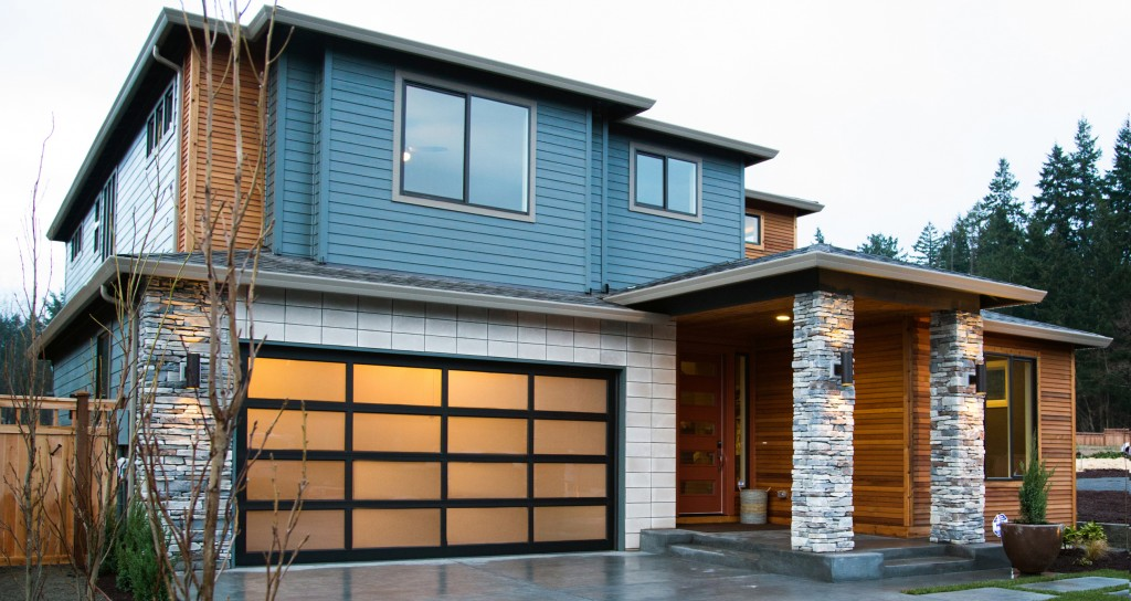 High Quality Modern Classic MC44 (Dark Bronze Anodized, Single Pane Satin Etch Glass)    Northwest Door
