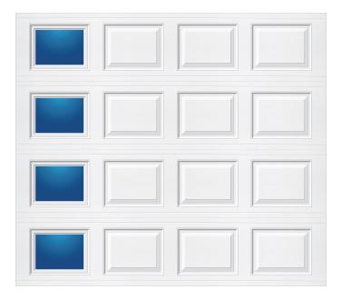 Model 501 Traditional Panel - Modern Lite T LH - Single Door