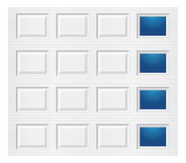 Model 501 Traditional Panel - Modern Lite T RH - Single Door
