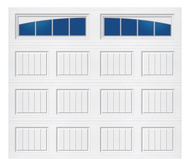 Model 10C Carriage - Arched Stockbridge - Single Door