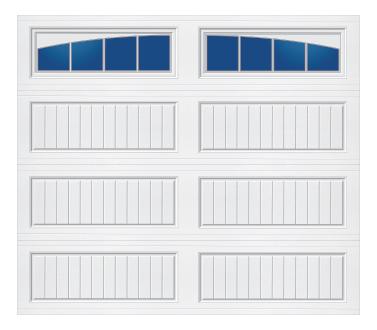 Model 10G Cottage - Arched Stockbridge - Single Door