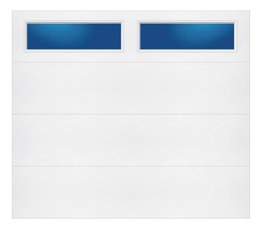 Model 208 Contemporary - Plain Lite T - Single Door